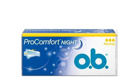 o.b® tamponger historik - Den första natt-tampongen (2014)