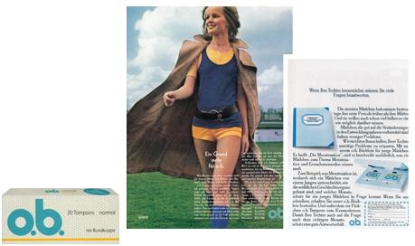 "o.b® tamponger historik - o.b.® utvecklar tampongen ""Mini"" (1972)"