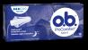 Bild på en förpackning av o.b. ProComfort Night Normal. Produkten har 3 bloddroppar och indikerar att den passar bra för lätta till normala mensblödningar under natten.
